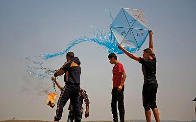 Palestinians' so-called terror kites have burned hundreds of acres in southern Israel. Getty Images