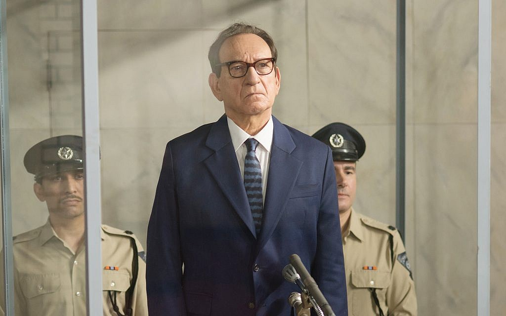 Ben Kingsley, as Adolf Eichmann, as his trial in Jerusalem. Photos by Valeria Florini/Metro Goldwyn Mayer Pictures © 2018 Metro-Goldwyn-Mayer Pictures Inc. All Rights Reserved.