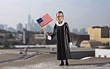 This Ruth Bader Ginsburg action figure is being sold by a Brooklyn-based company. (JTA)