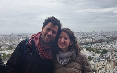 "Adar and Lisa, who met while hiking the ""Israel trail"" will marry this weekend in Abu Ghosh, Israel. Courtesy"