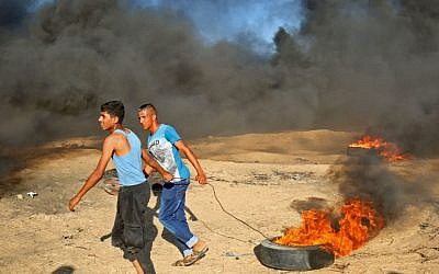 More clashes erupted on the Gaza border on August 10 between IDF troops and Palestinians. Getty Images