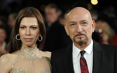 British actor Sir Ben Kingsley (R) and his wife Daniela Lavender in London, England on November 28, 2011. Getty Images