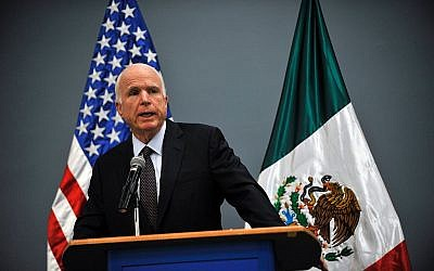 US Republican Senator for Arizona John McCain delivers a message to the media at the Benjamin Franklin library at the US embassy in Mexico City on December 20, 2016. Getty Images