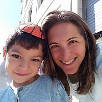 Elissa Sagoskin and her son Amichai. Courtesy of Elissa Sagoskin