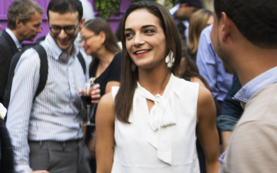 Julia Salazar, a staff organizer for Jews for Racial and Economic Justice, is running for New York State Senate as a democratic socialist. (Charles Dunst/JTA)
