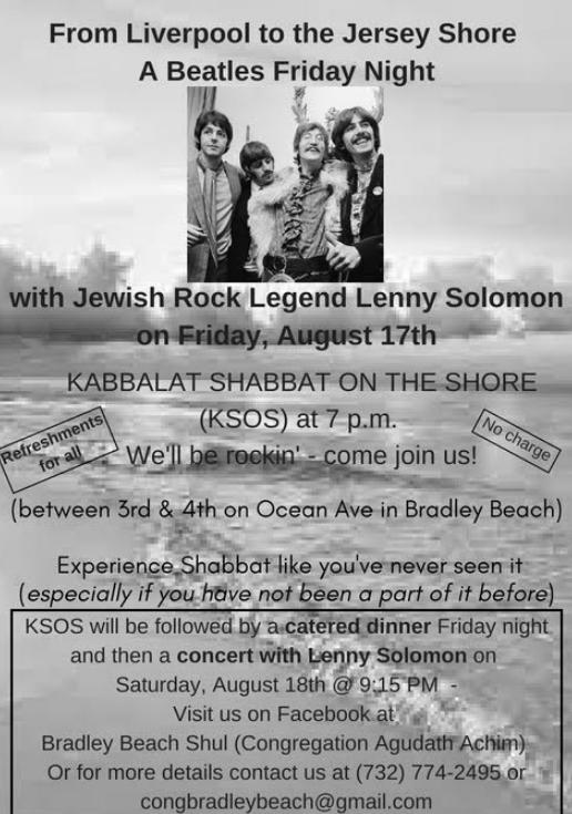 new style 5c131 e8db9 A Beatles Friday Night: Kabbalat Shabbat & Concert w/Lenny ...