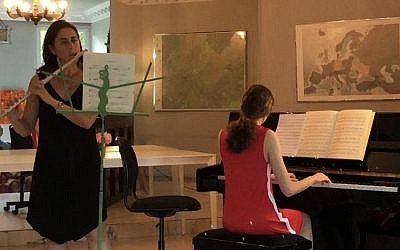 Sophie joined her mom on the piano for a recent recital. Photos Courtesy of Denise Abner.