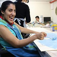 Women working in Maarag vocational center. Courtesy of Yuval Arbel