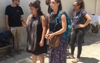 Recent Birthright trips have been plagued by participant walk-offs (and at times ejections from the group) as well as criticism for not showing a holistic view of the Israeli-Palestinian conflict. Here, some Birthright participants film themselves talking about their reasons for leaving their trip last summer. JTA