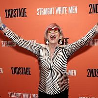 "Kate Bornstein after the opening night of ""Straight White Men"" in New York City, July 23, 2018. (JTA)"