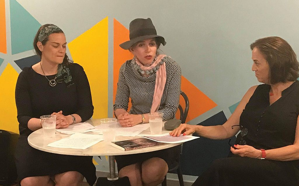 Temima Shulman, center, founder of Midrasha, speaks at a recent midtown panel. With her are left, educator Shira Hecht-Koller and Ruth Calderon, former member of the Knesset.