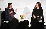 Supreme Court Justice Elena Kagan, left, speaking last week with journalist Dahlia Lithwick at the Hannah Senesh Community Day School in Brooklyn. Matthew Sussman for Hannah Senesh Community Day School