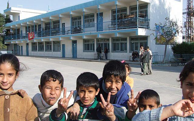 An UNRWA school in the Gaza Strip. Flickr