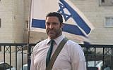 Israel activist Ari Fuld in a photo from his Facebook page. (JTA)