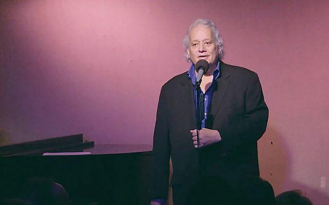 NJJN staff writer Robert Wiener performs at the Don't Tell Mama piano bar in New York City. Vimeo Screenshot
