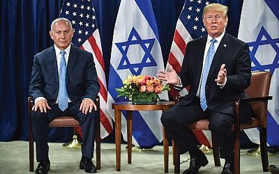 President Donald Trump meets Wednesday with Israeli Prime Minister Benjamin Netanyahu in New York on the sidelines of the UN General Assembly. Getty Images