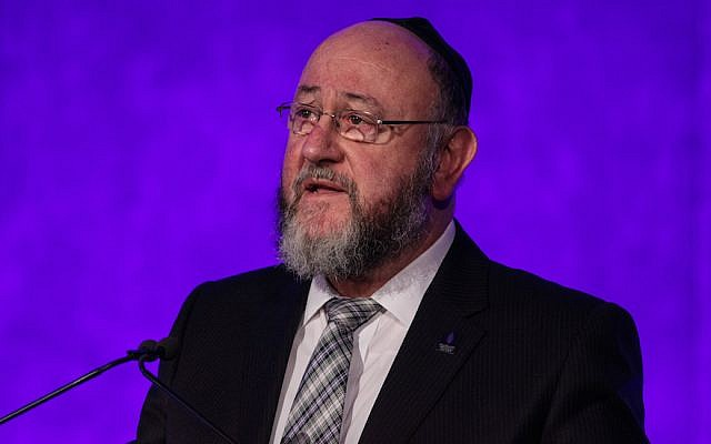 """U.K. Chief Rabbi Ephraim Mirvis wrote how LGBT students experience """"feelings of deep isolation, loneliness and a sense that they can never be themselves. JTA"""