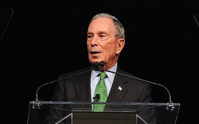 Michael Bloomberg in New York City, Dec. 4, 2017. (JTA)