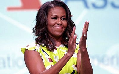 Michelle Obama at the 2018 American Library Association Annual Conference in New Orleans, June 22, 2018. (JTA)