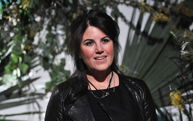 Monica Lewinsky at Mercedes-Benz Fashion Week in New York City, Feb. 11, 2015. (JTA)
