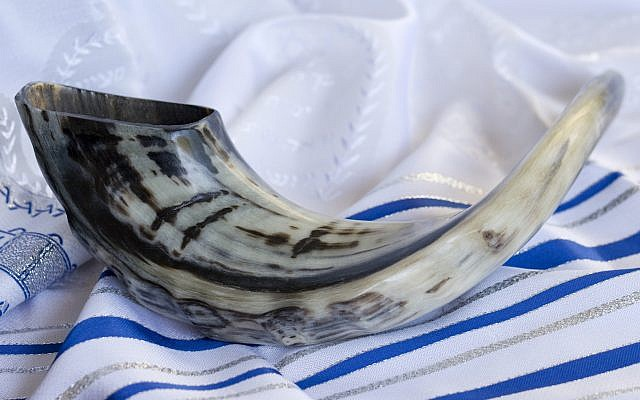 Illustrative photo: Shofar on a Tallit