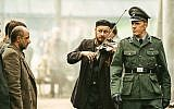 "Christopher Lambert, right, portraying a German Nazi officer in ""Sobibor."" (JTA/ Rosiya Segondiya)"