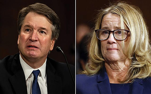 Judge Brett Kavanaugh and Christine Blasey Ford at last week's Senate Judiciary Committee hearing. Getty Images