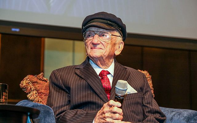 "Ben Ferencz, 98, at last week's event. He says he ""never thought in terms"" of a legacy. Michael Priest Photography"