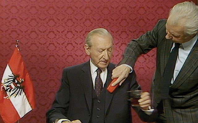 "Former Austrian diplomat and Nazi war criminal Kurt Waldheim is the subject of Ruth Beckermann's ""The Waldheim Waltz."" Courtesy of Ruth Beckermann Film Production"