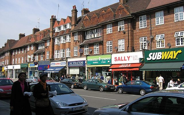A strong sense of place: The heavily Jewish Golders Green section of London. Wikimedia Commons