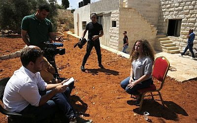 Ahed Tamimi speaks during an interview with Agence France-Presse (AFP) in the West Bank on July 30, 2018, following her release from prison. Photo credit: ABBAS MOMANI/AFP/Getty Images