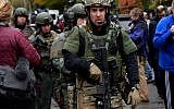 Rapid reaction SWAT members leave the scene of a mass shooting at the Tree of Life Synagogue in the Squirrel Hill neighborhood on October 27, 2018 in Pittsburgh, Pennsylvania. Getty Images