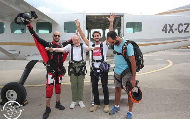 Walter Bingham prepares to skydive over northern Israel! Via Jewish News