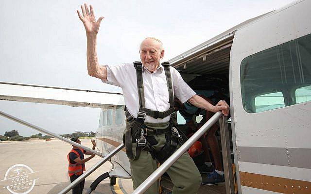 Walter Bingham prepares to skydive over northern Israel!
