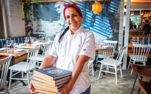 Chef Einat Admony in the latest reincarnation of Balaboosta, her latest project in New York. Courtesy Balaboosta via Times Of Israel