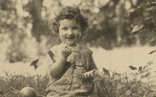 Bunny North, née Brunhilde Bachenheimer, as a child in Kirchhain, 1931. Courtesy via Times Of Israel