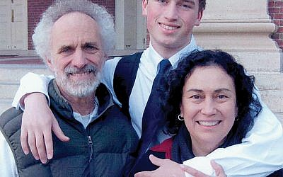 Jo Carrillo-Ostrow, right, with her husband and son, is part of a trend of people with Sephardic roots who are thinking of applying for a Spanish passport. PHOTO COURTESY JO CARRILLO-OSTROW
