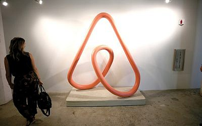 Airbnb signage on display last month at a Wired conference in San Francisco. Phillip Faraone/Getty Images for WIRED25