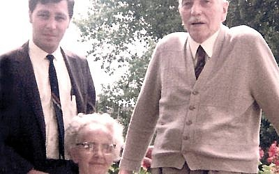 Young Kellner is pictured, inset, with his late grandfather and grandmother.  PHOTOS COURTESY ROBERT SCOTT KELLNER