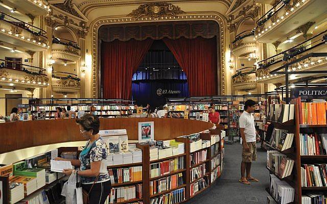 El Ateneo Grand Splendid was converted from a theater to a bookstore, and it regularly tops lists of the world's most beautiful shops. Wikimedia Commons