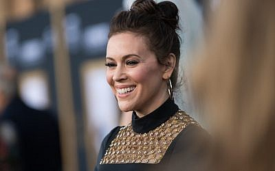 "Alyssa Milano attends the premiere of Warner Bros. Pictures' ""A Star Is Born"" at The Shrine Auditorium in Los Angeles, Sept. 24, 2018. (Emma McIntyre/Getty Images)"