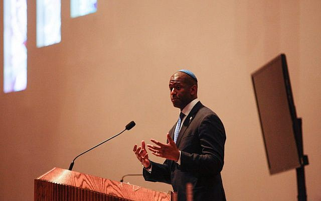 Mayor Andrew Gillum (D-FL) at a candidate forum at Temple Kol Ami on October 25, 2018 in Plantation, Florida.  The forum was held to discuss issues in the Jewish community as the November 6 election approaches. Getty Images