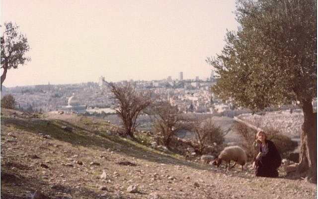 Angela Himsel on her study abroad program in Jerusalem in the early 1980s. It was this transformative year away from home that led her to rethink her beliefs. Courtesy of Angela Himsel