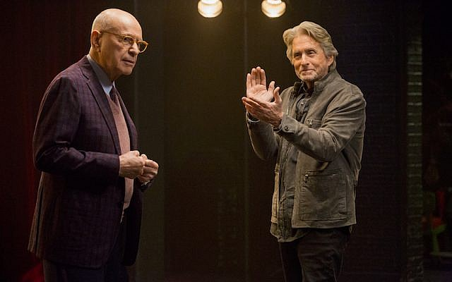 "Alan Arkin, left, and Michael Douglas star in ""The Kominsky Method,"" the latest from ""Big Bang Theory"" creator Chuck Lorre. (JTA)"