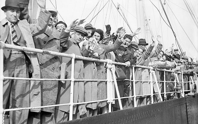 Jewish refugees on board the the German liner the St. Louis, June 29, 1939. (Planet News Archive/SSPL/Getty Images)