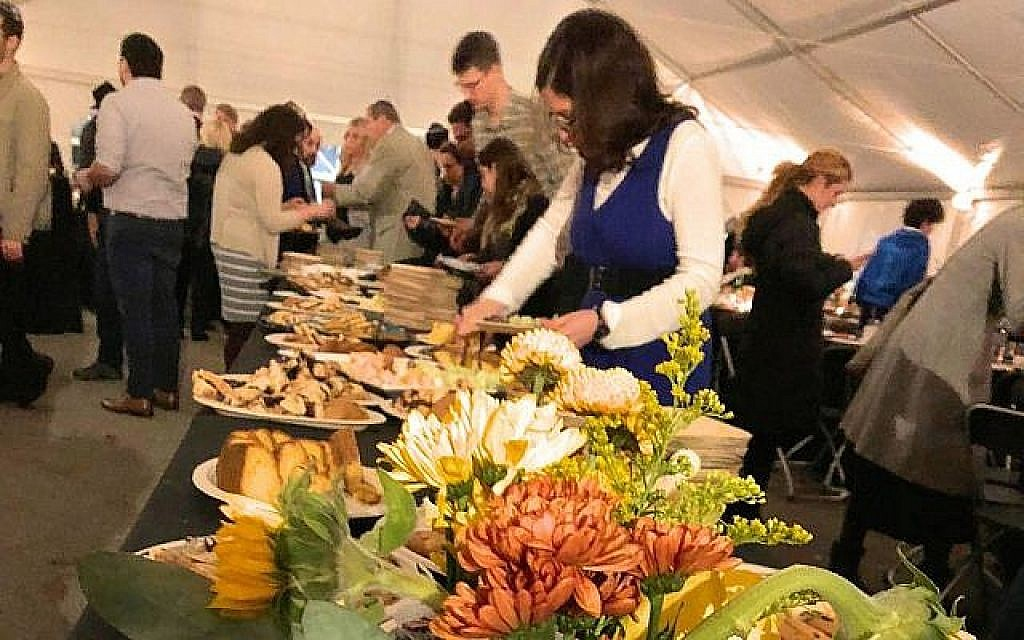 The Stronger Together Shabbat in Pittsburg, November 2, 2018. Sara Fatell/ One Table Via Times Of Israel