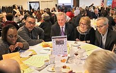 A diverse group of faith leaders at last week's pre-Thanksgiving breakfast at Manhattanville College in Purchase, N.Y. Credit: Paula Markowitz