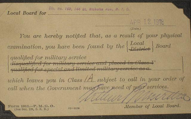 The telegram announcing the end of the war. Courtesy of Steve North