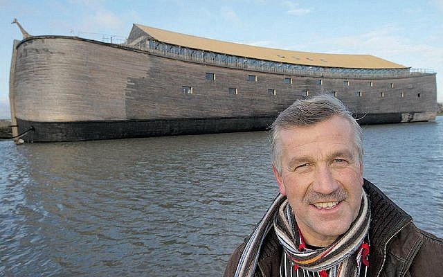 Johan Huibers and his Noah's Ark in Dorderecht, the Netherlands, in October 2013. (JTA)