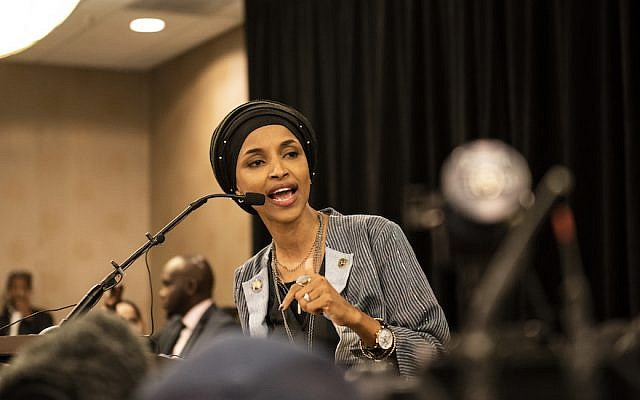Ilhan Omar speaks at an election night results party in Minneapolis, Nov. 6, 2018. (Stephen Maturen/Getty Images)